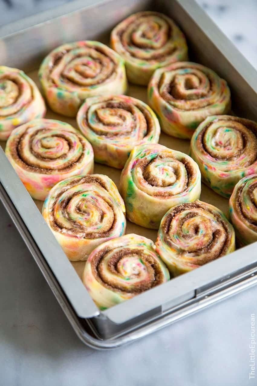 Birthday Funfetti Cinnamon Rolls