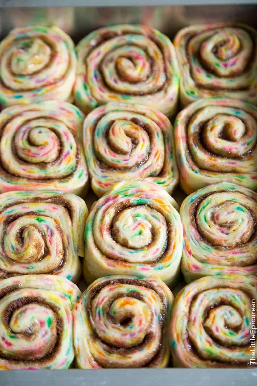 Birthday Cake Mix Cinnamon Rolls Carlyklock Birthday Cake Batter