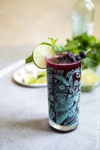 Blueberry Mojito Float