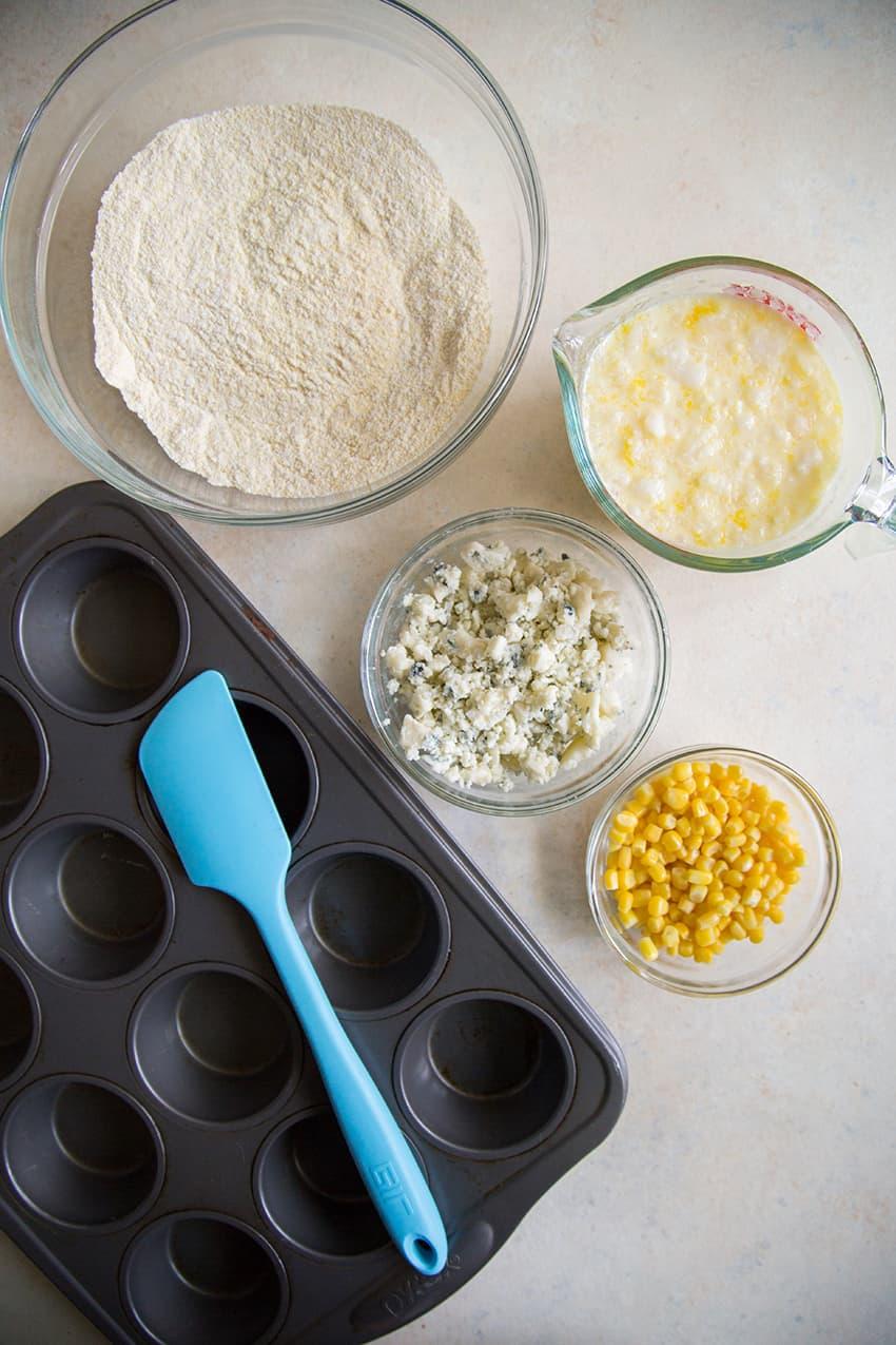 Blue Cheese Cornbread Muffins