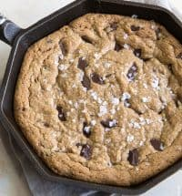 Peanut Butter Chocolate Chunk Skillet Cookie