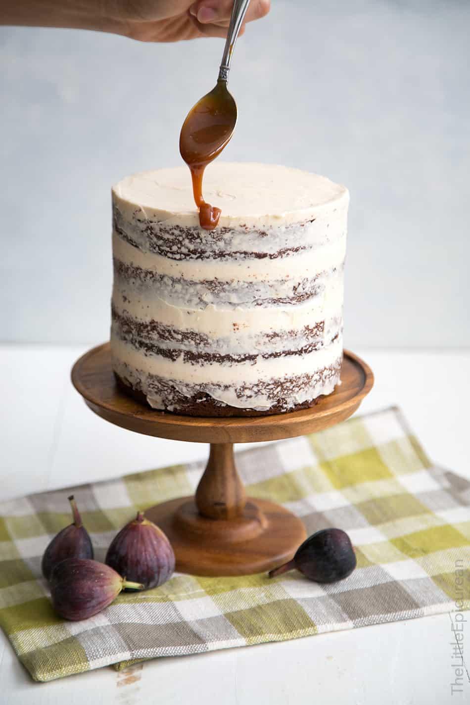 Caramel Fig Chocolate Cake