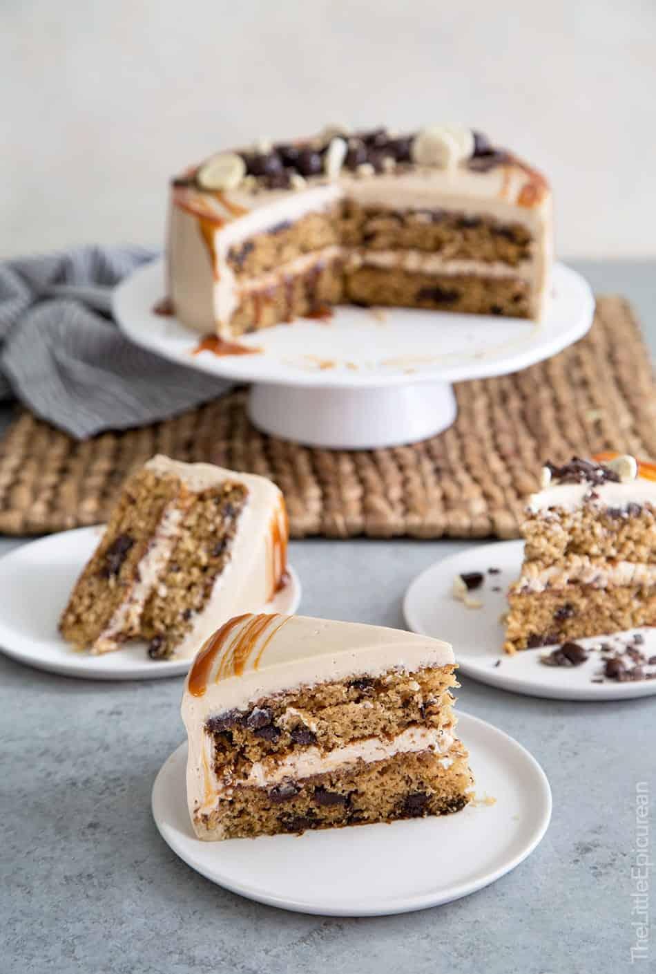 Caramel Coffee Banana Cake- The Little Epicurean