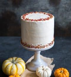 Pumpkin Cake with Cinnamon Maple Buttercream