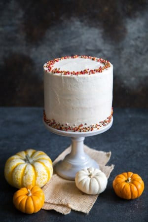 Pumpkin Cake with Cinnamon Maple Buttercream