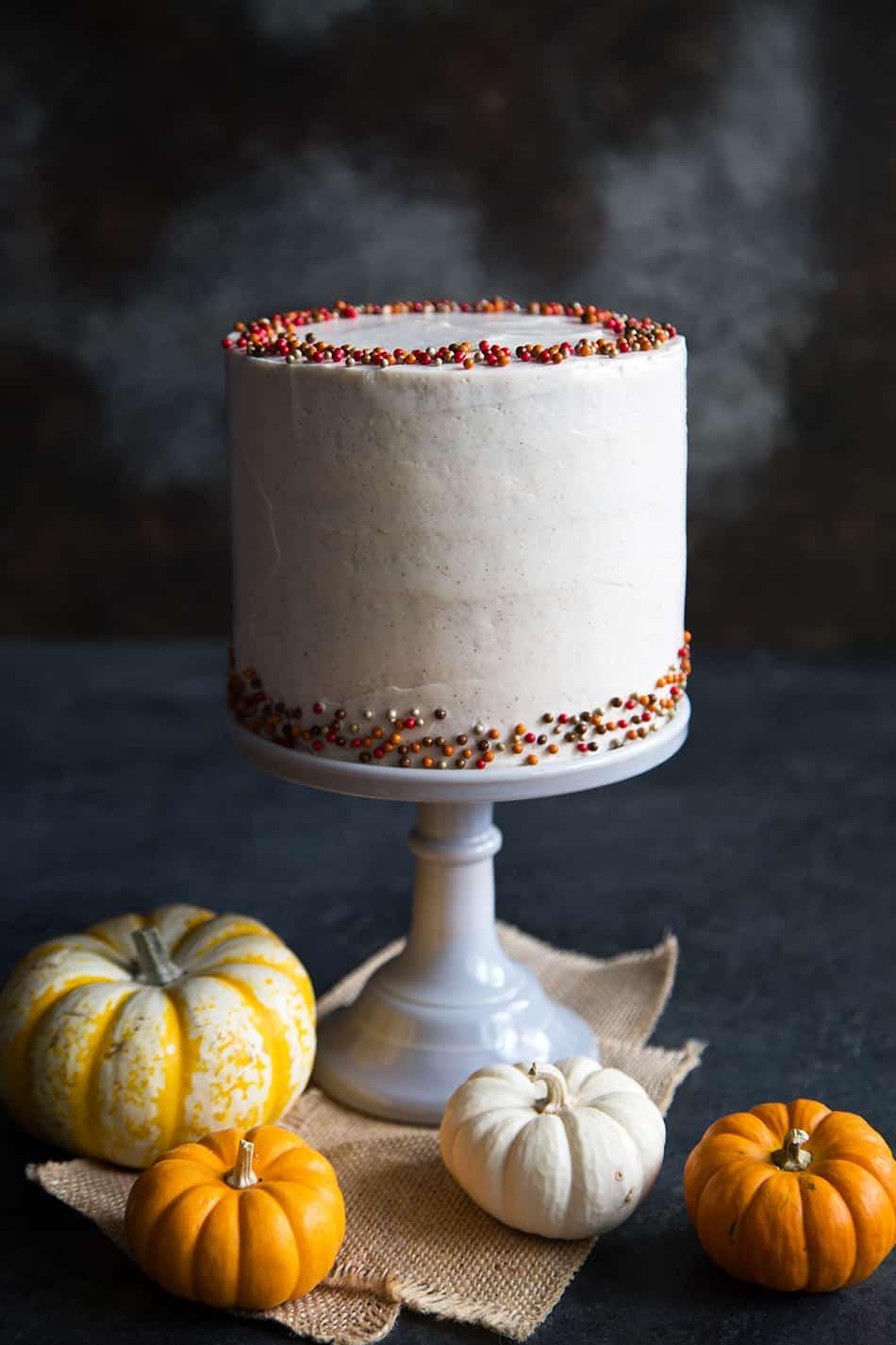 Cinnamon Maple Pumpkin Cake