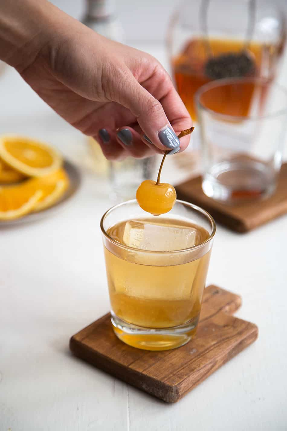 Spiced Whiskey Cobbler Cocktail
