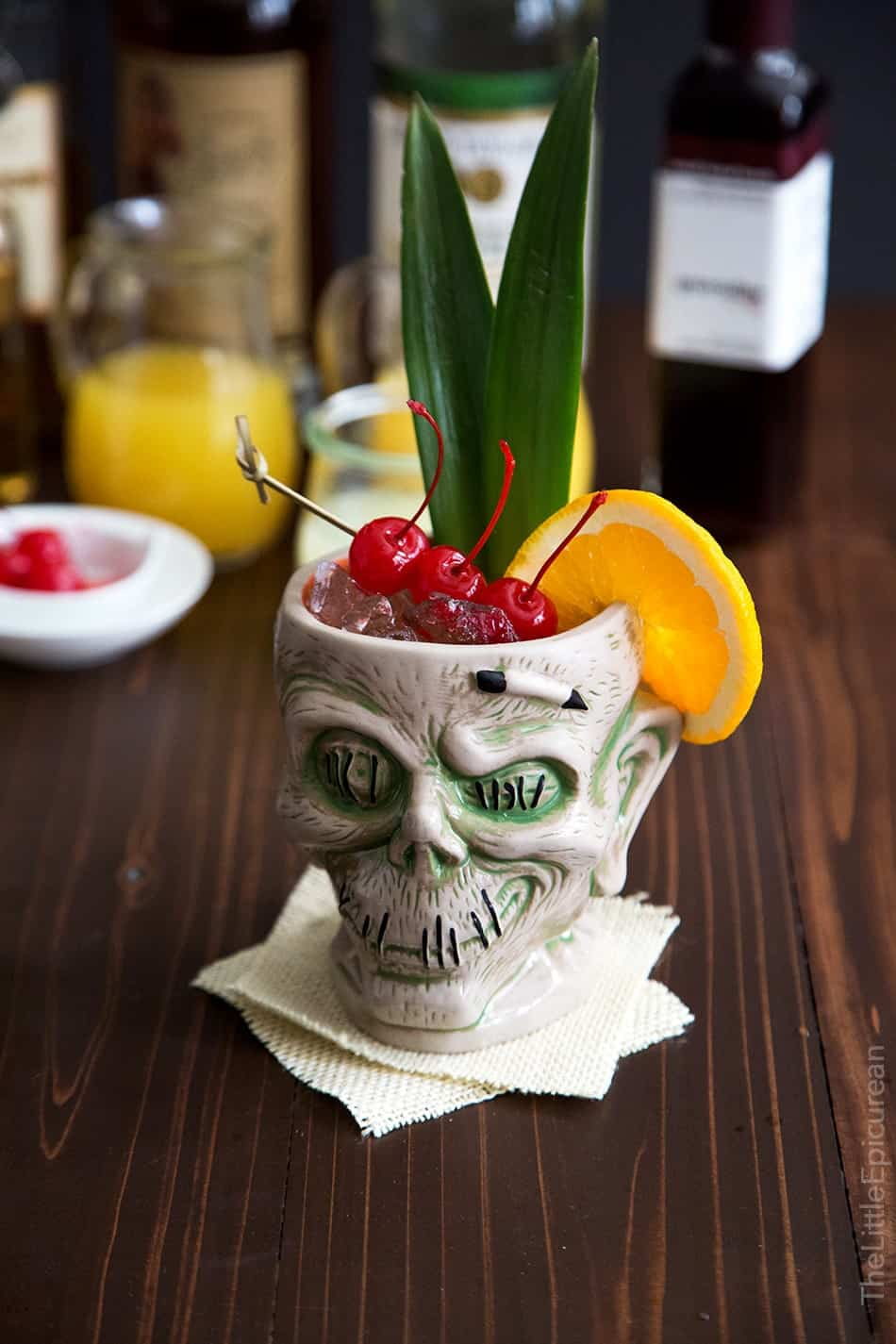 Zombie Cocktail (Tiki Cocktail) - The Little Epicurean