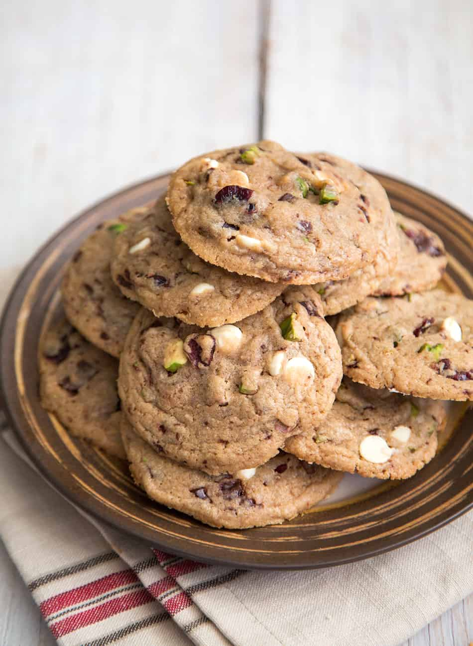 Pistachio Cranberry Holiday Cookies