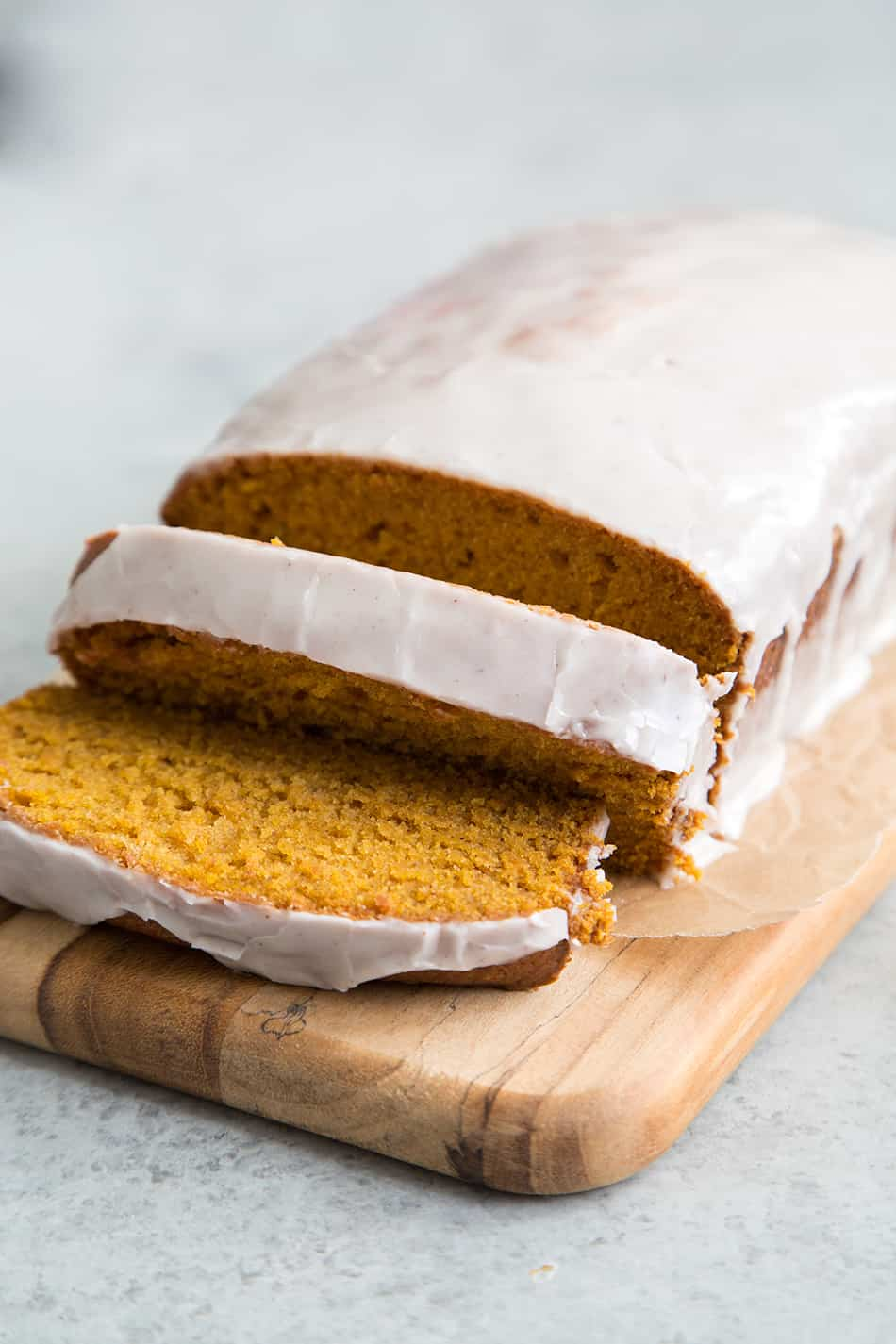 Pumpkin Bread with Eggnog Glaze