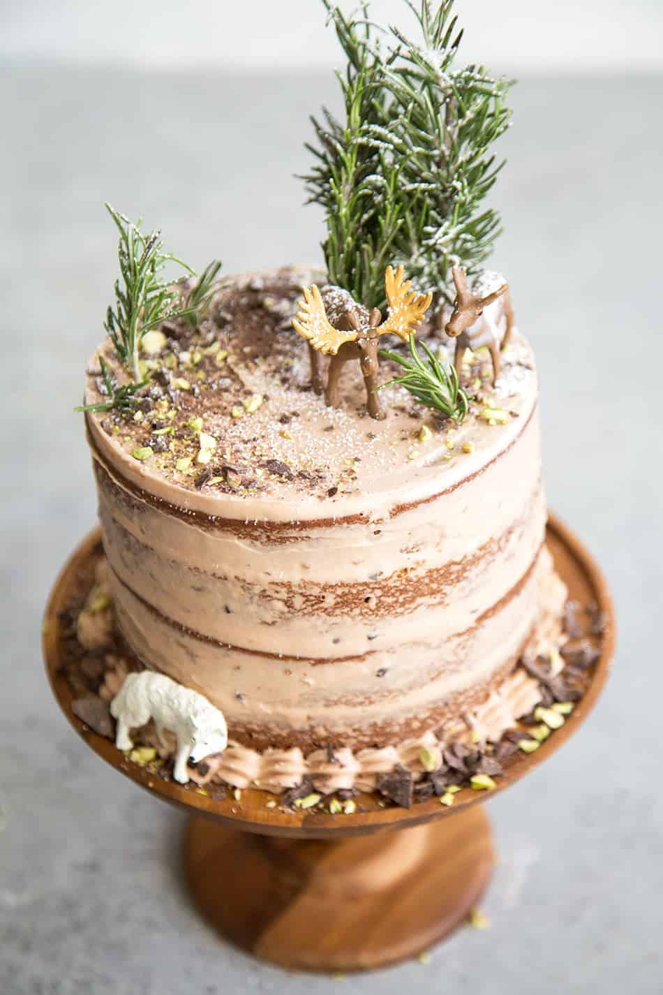 Forest Chocolate Pumpkin Cake