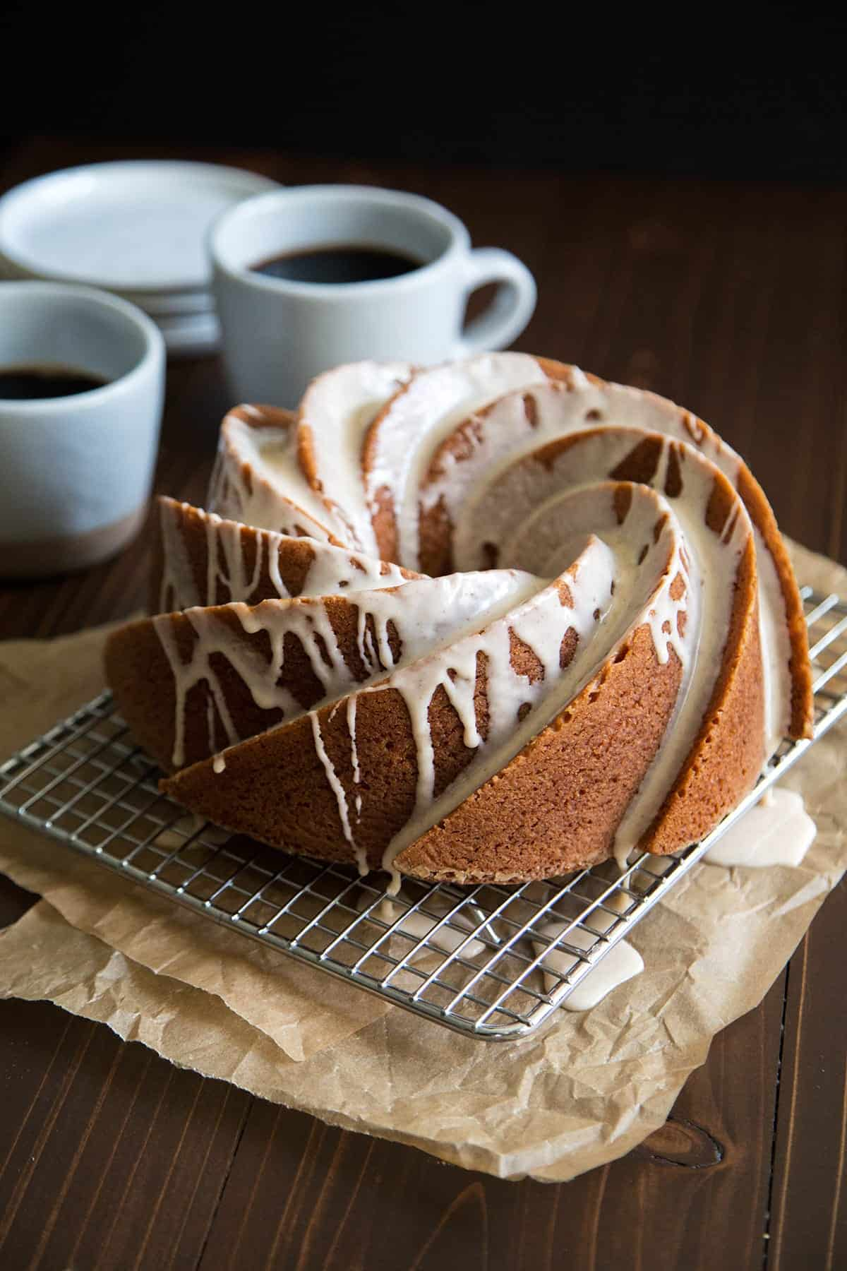 Eggnog Bundt Cake with Rum Glaze
