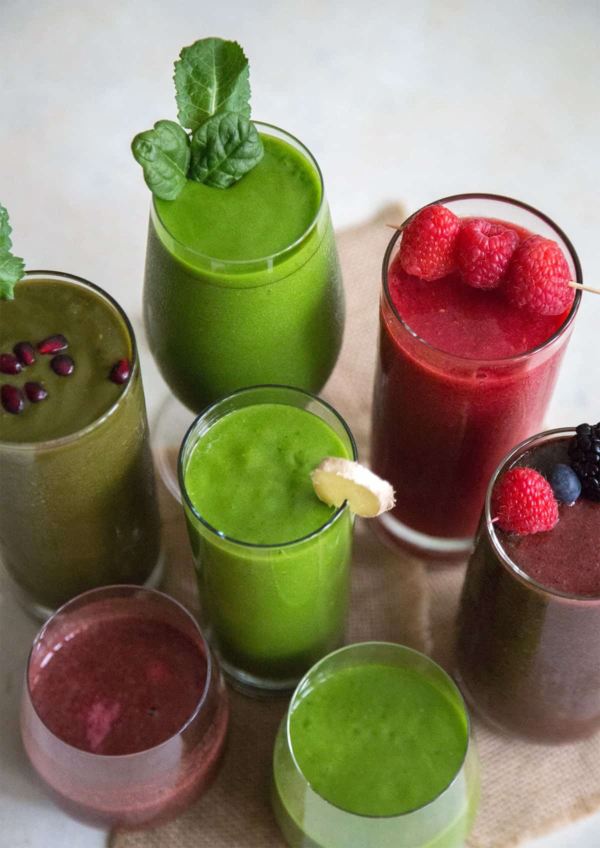5 fruit and veggie smoothies