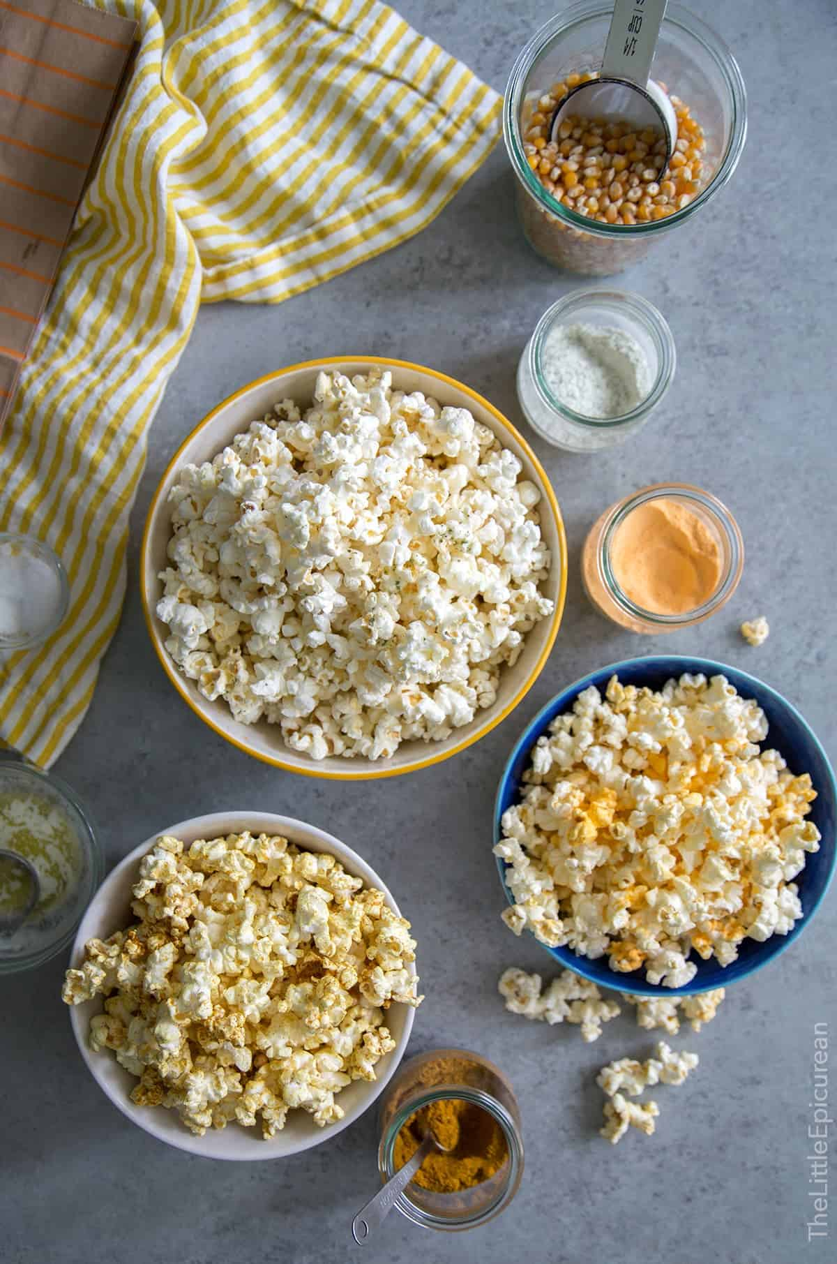 Homemade Microwave Popcorn (with flavor mix-ins!)