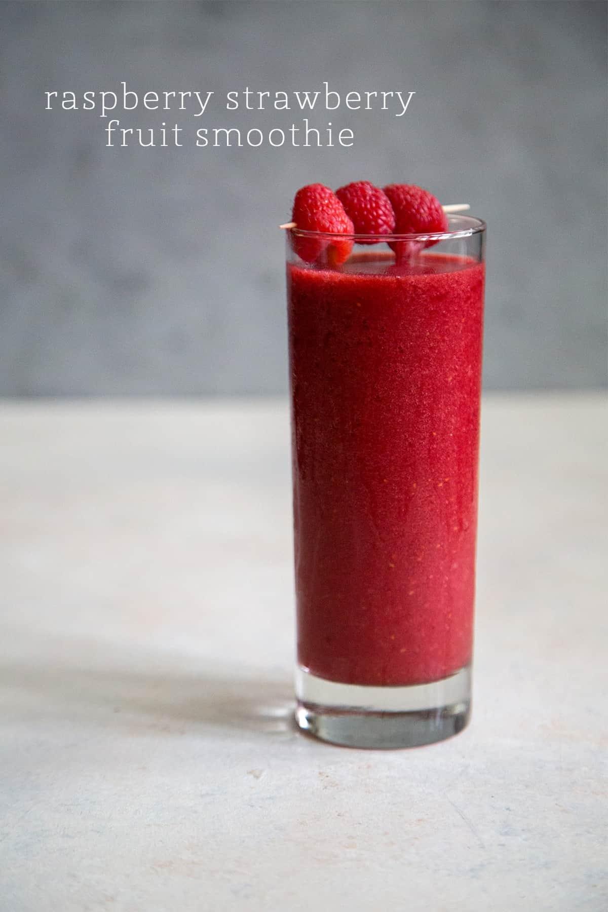 Raspberry Strawberry Fruit Smoothie