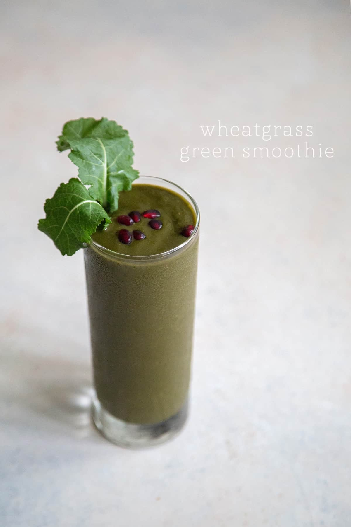 5 fruit and veggie smoothies: Wheatgrass Green Smoothie