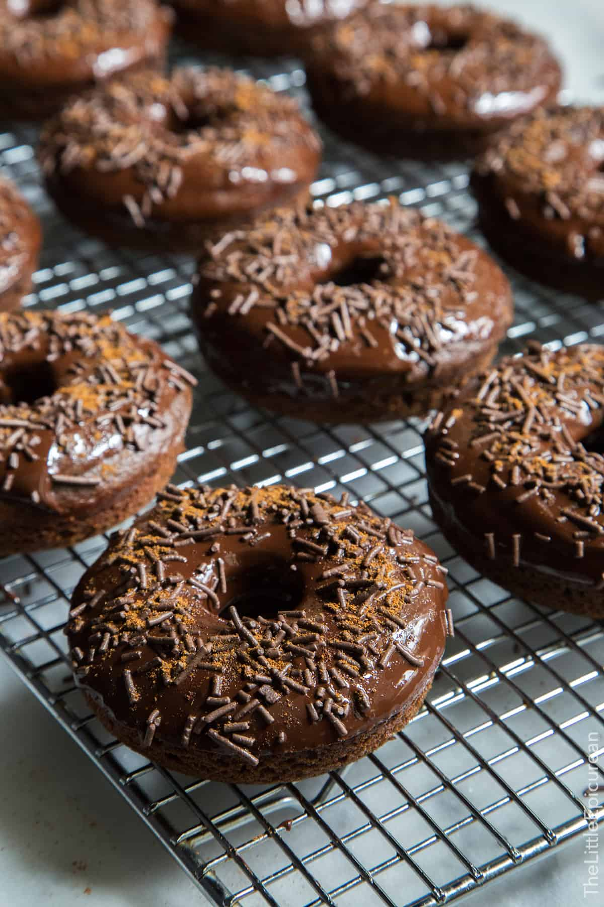 Baked Cayenne Chocolate Donuts