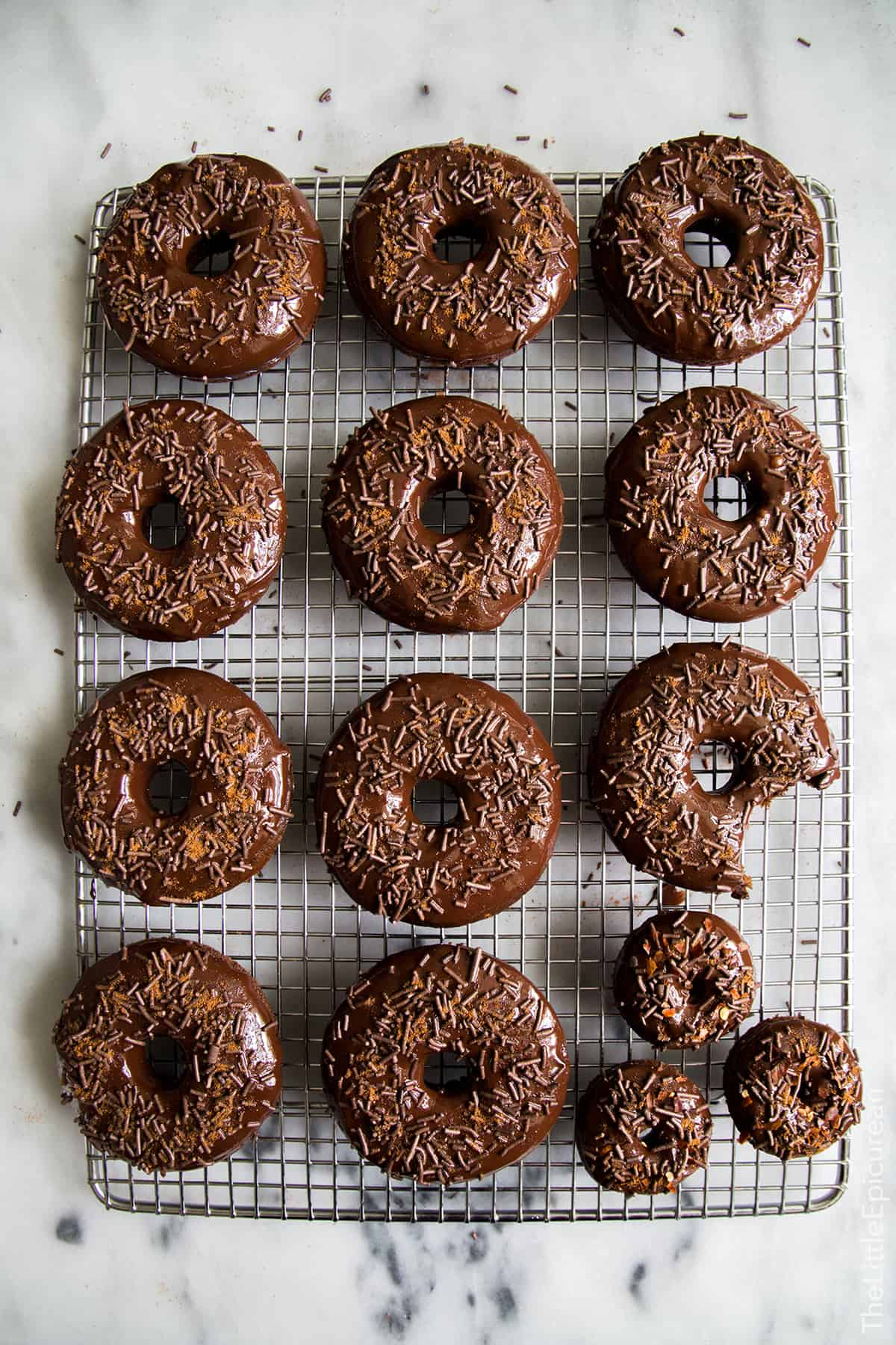 Baked Cayenne Chocolate Donuts The Little Epicurean