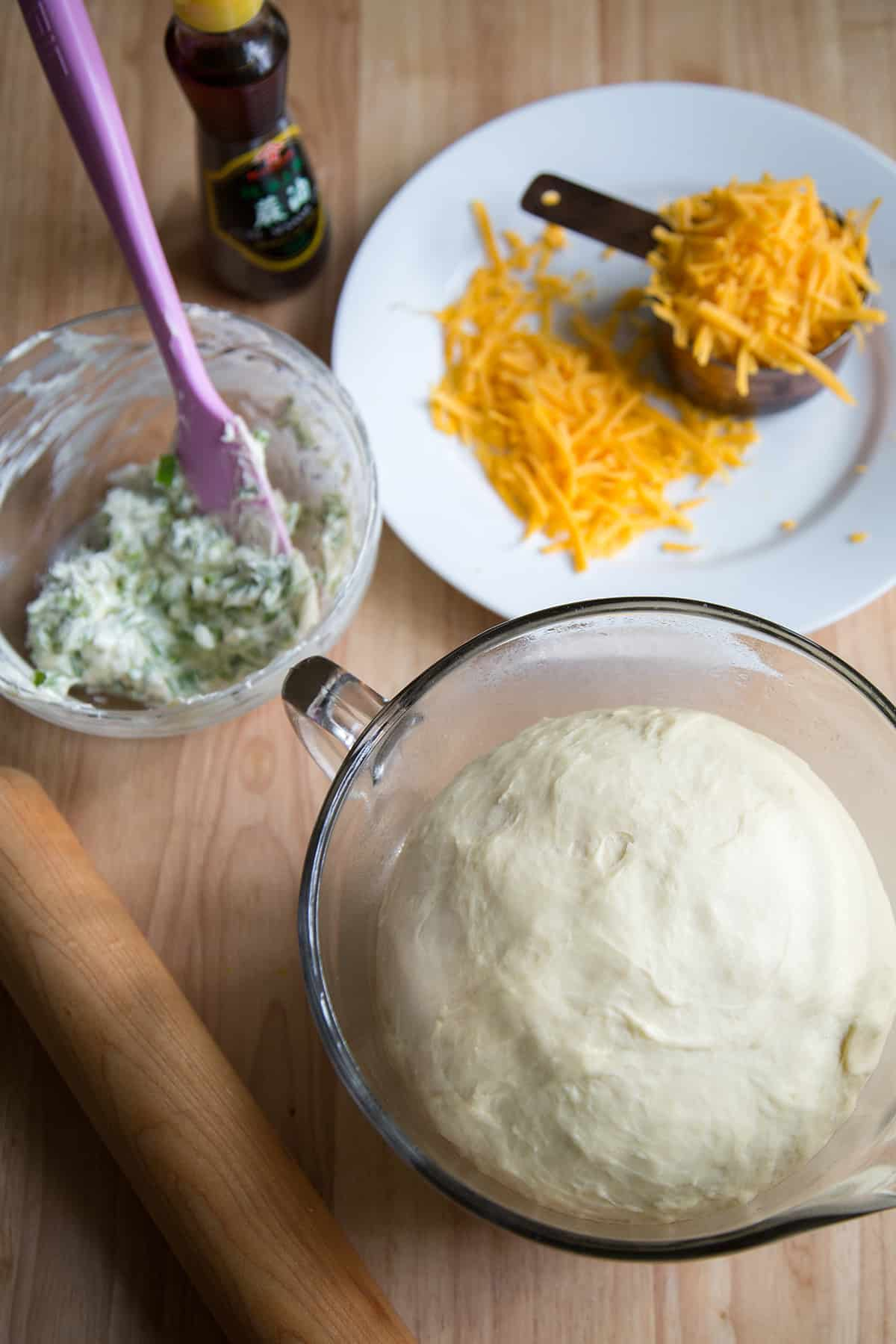 Cheddar Scallion Rolls