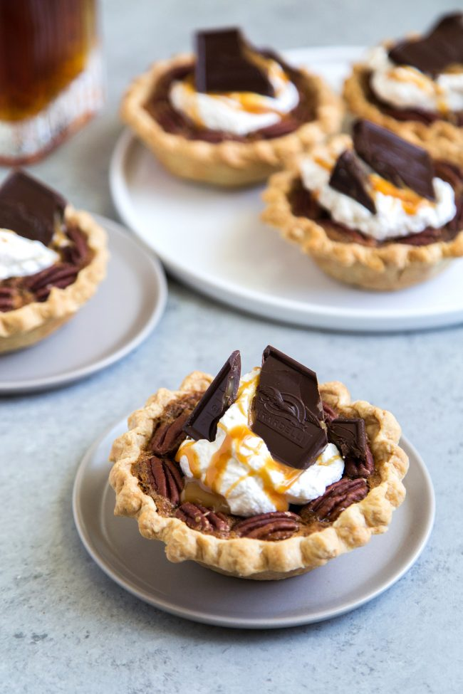 Mini Bourbon Caramel Derby Pies