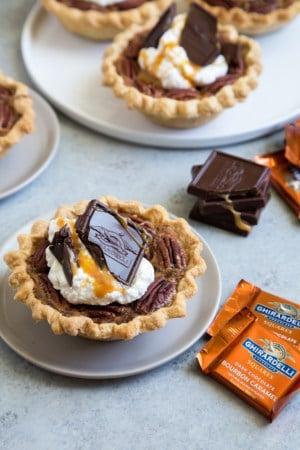 Mini Bourbon Caramel Derby Pies