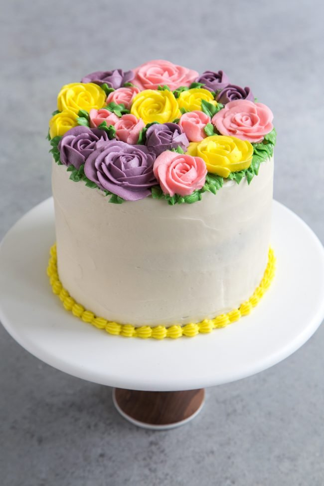 Buttercream Flowers Cake The Little Epicurean