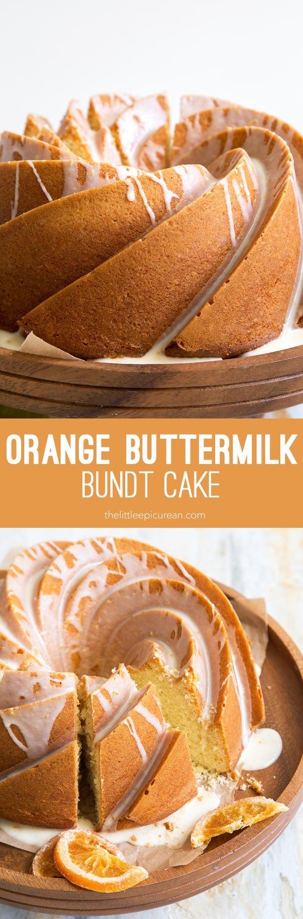 Orange Buttermilk Bundt Cake The Little Epicurean