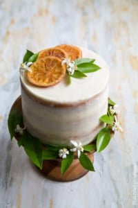 Orange Marmalade Cake with Orange Blossom Buttercream