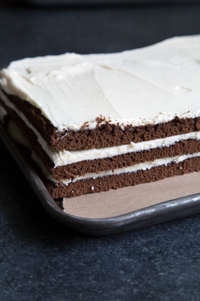 Mini Chocolate Bourbon Caramel Layer Cakes The Little