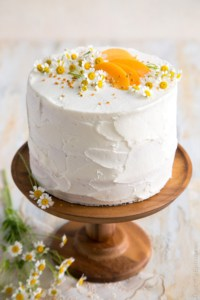 Apricot Chamomile Cake with Bee Pollen
