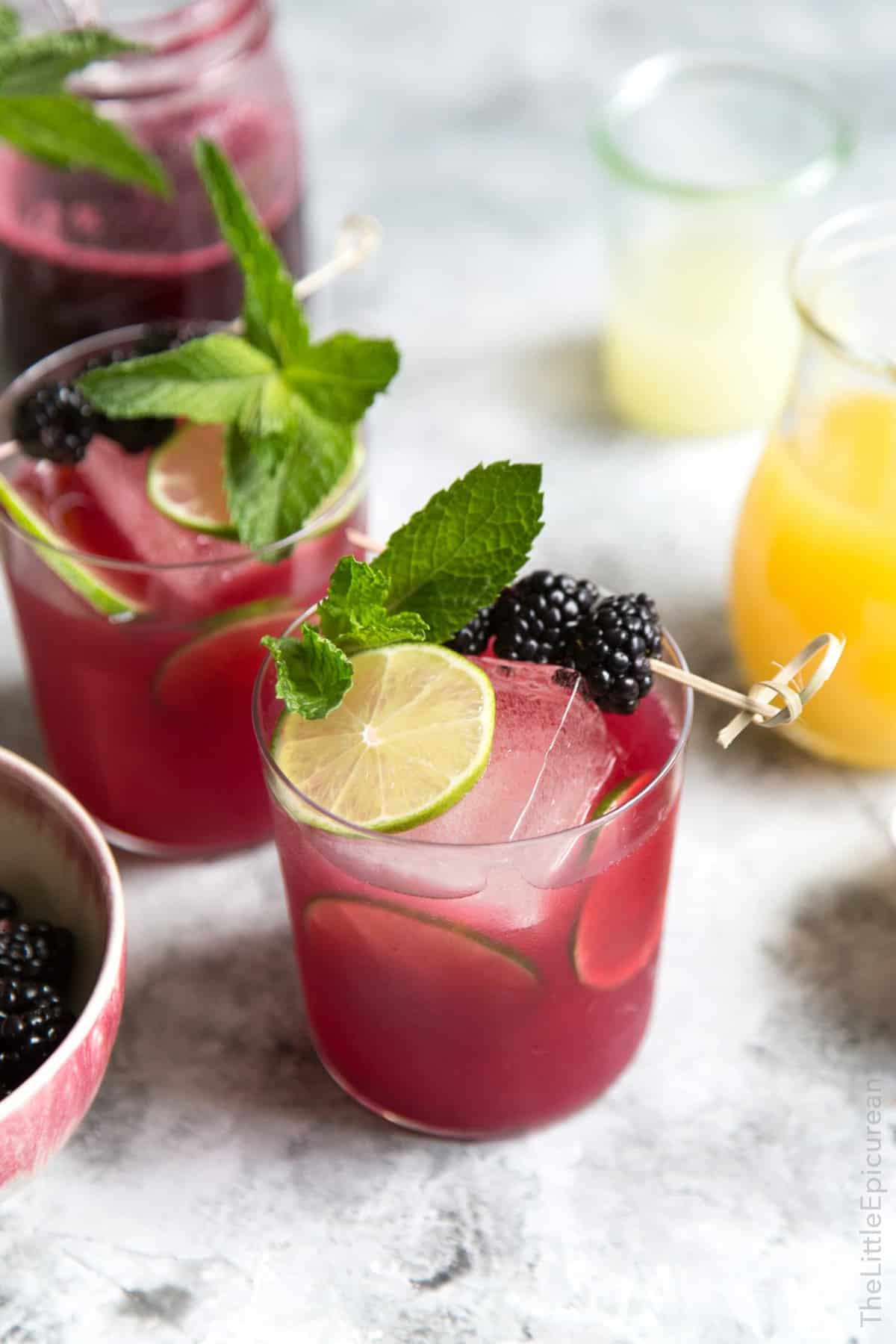 Blackberry Pineapple Rum Cocktail