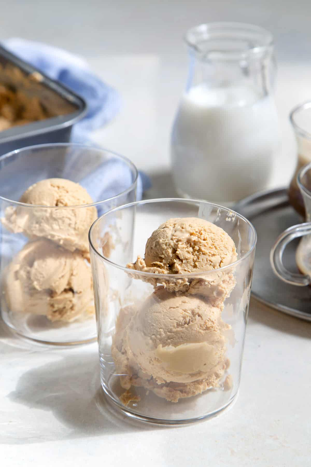No Churn Espresso Dulce de Leche Ice Cream