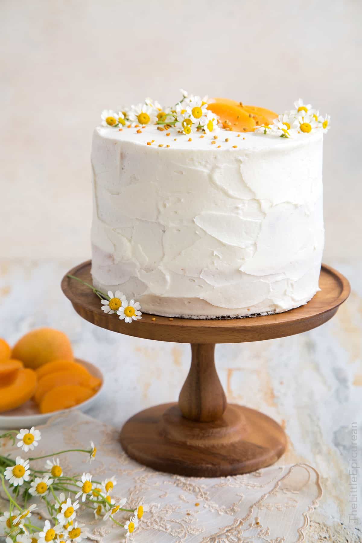 Apricot Chamomile Cake With Bee Pollen The Little Epicurean