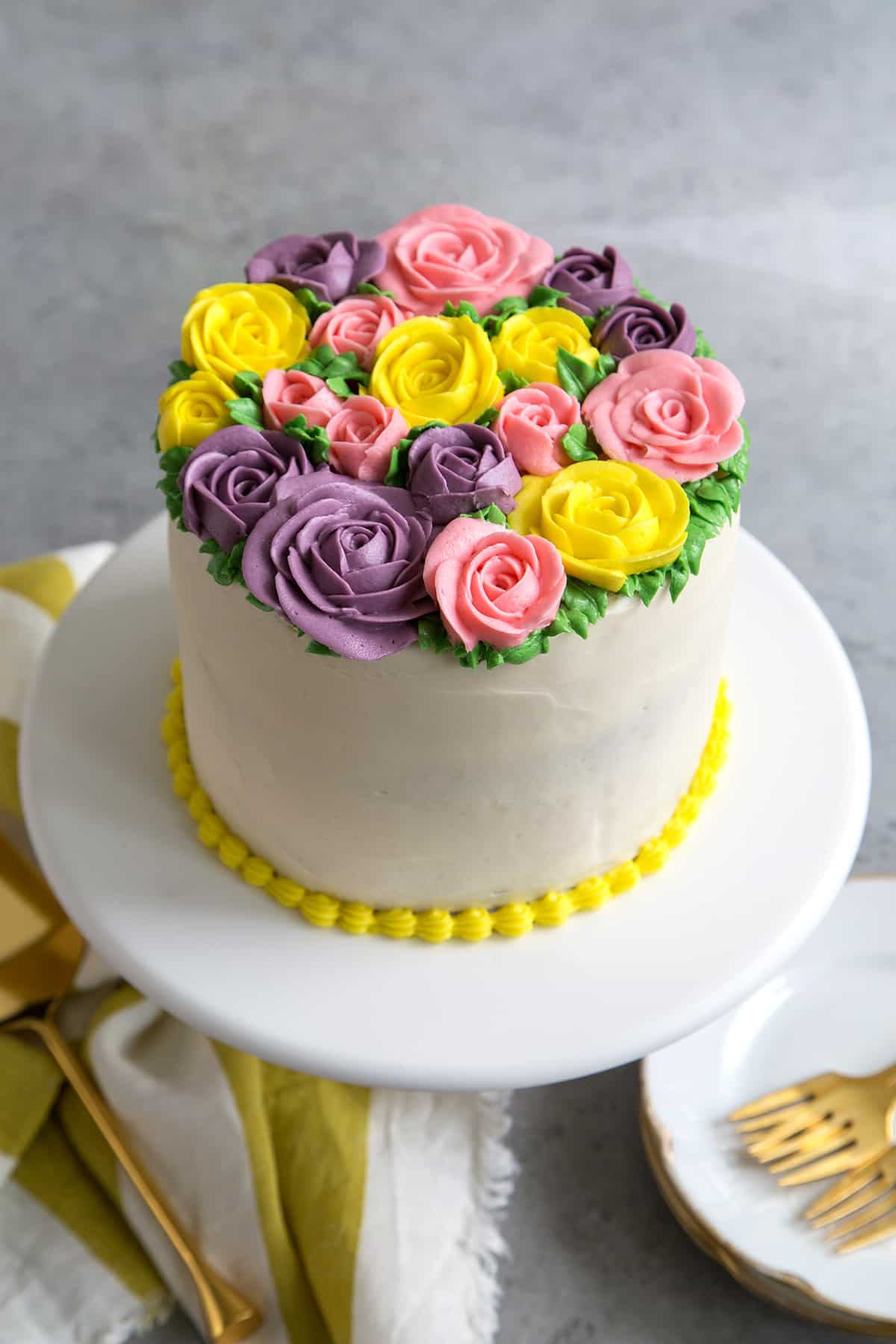 Buttercream flowers cake the little epicurean izmirmasajfo