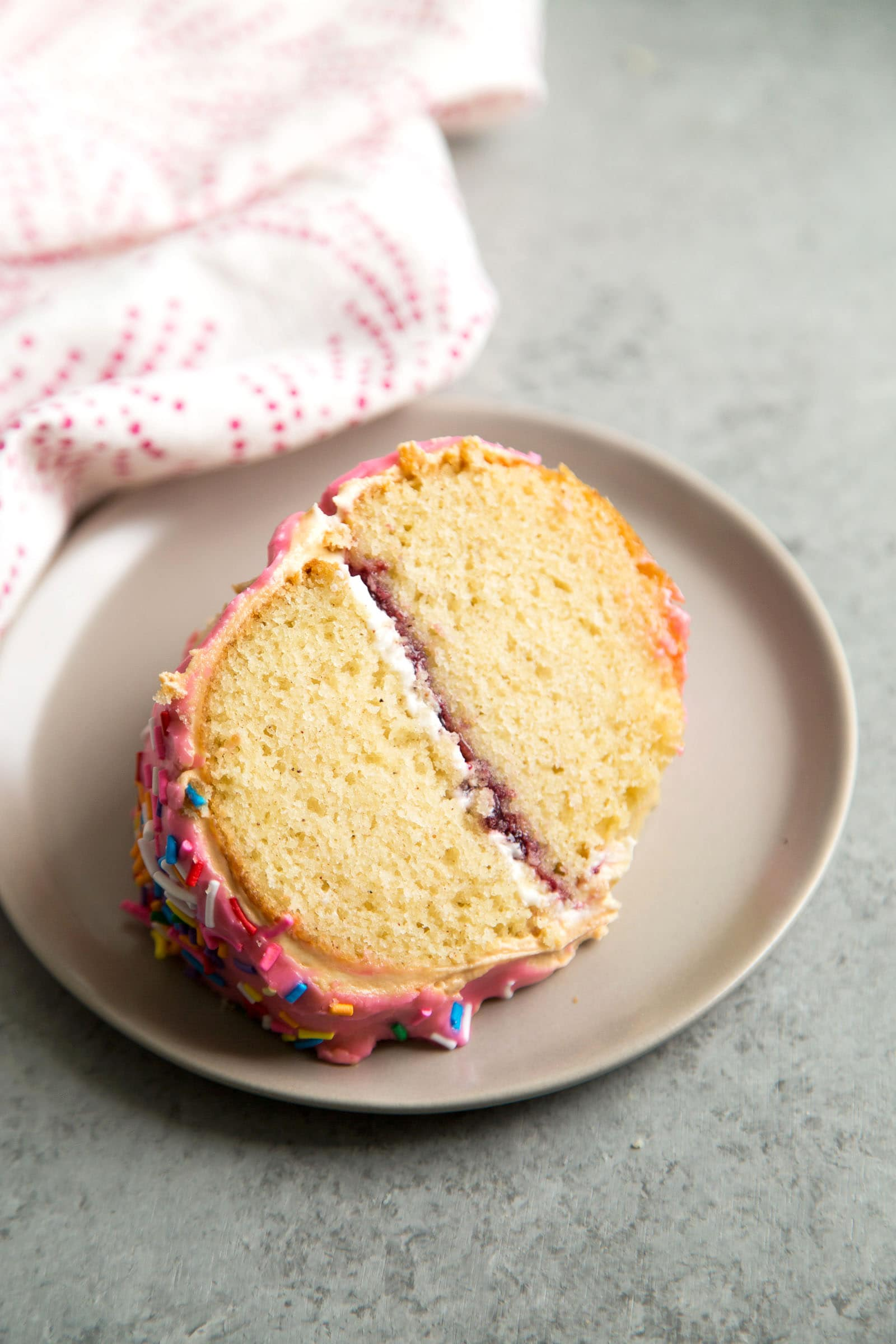 Giant Donut Cake with sprinkles