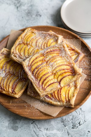 Nectarine Puff Pastry with Vanilla Bean Cream Cheese