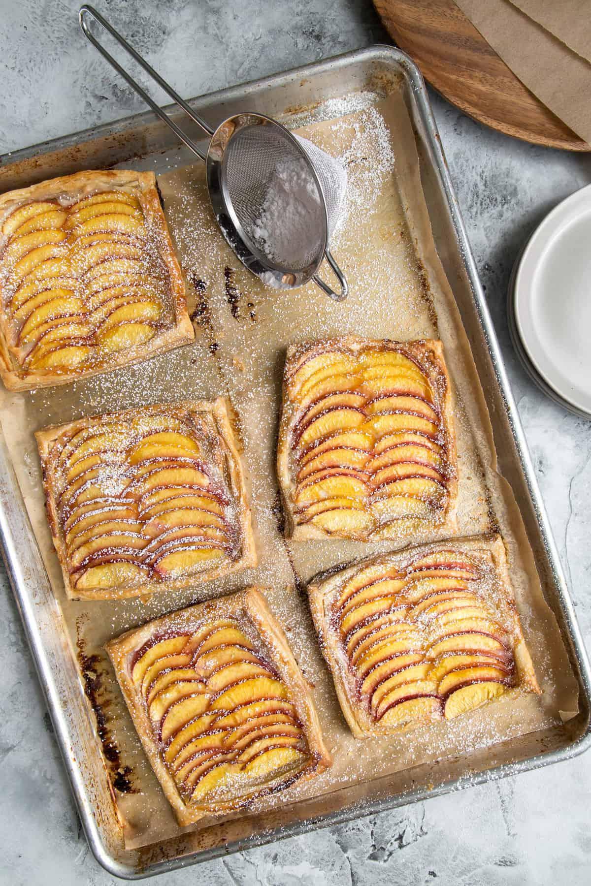 Nectarine Puff Pastry Tart with Vanilla Bean Cream Cheese