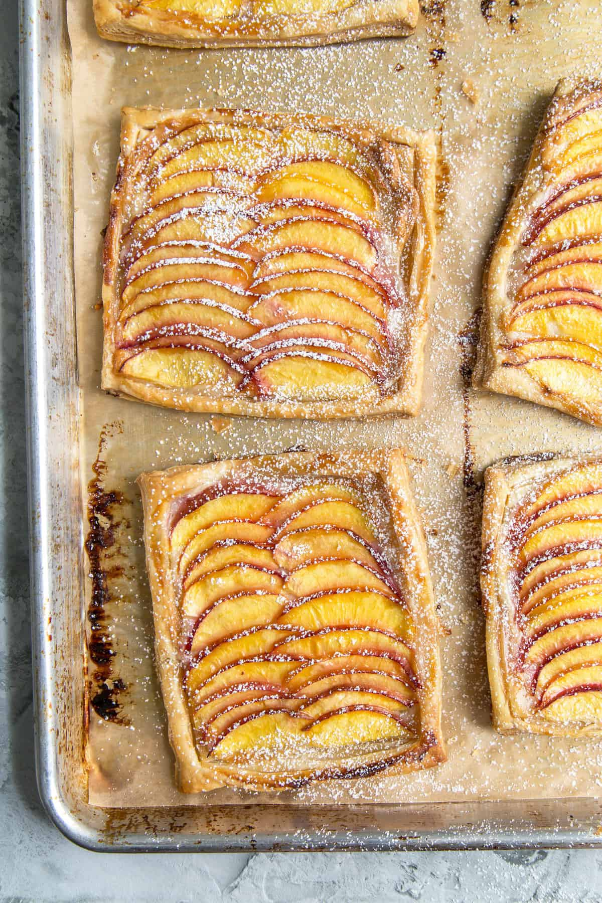 Nectarine Puff Pastry Tart with Vanilla Bean Cream Cheese