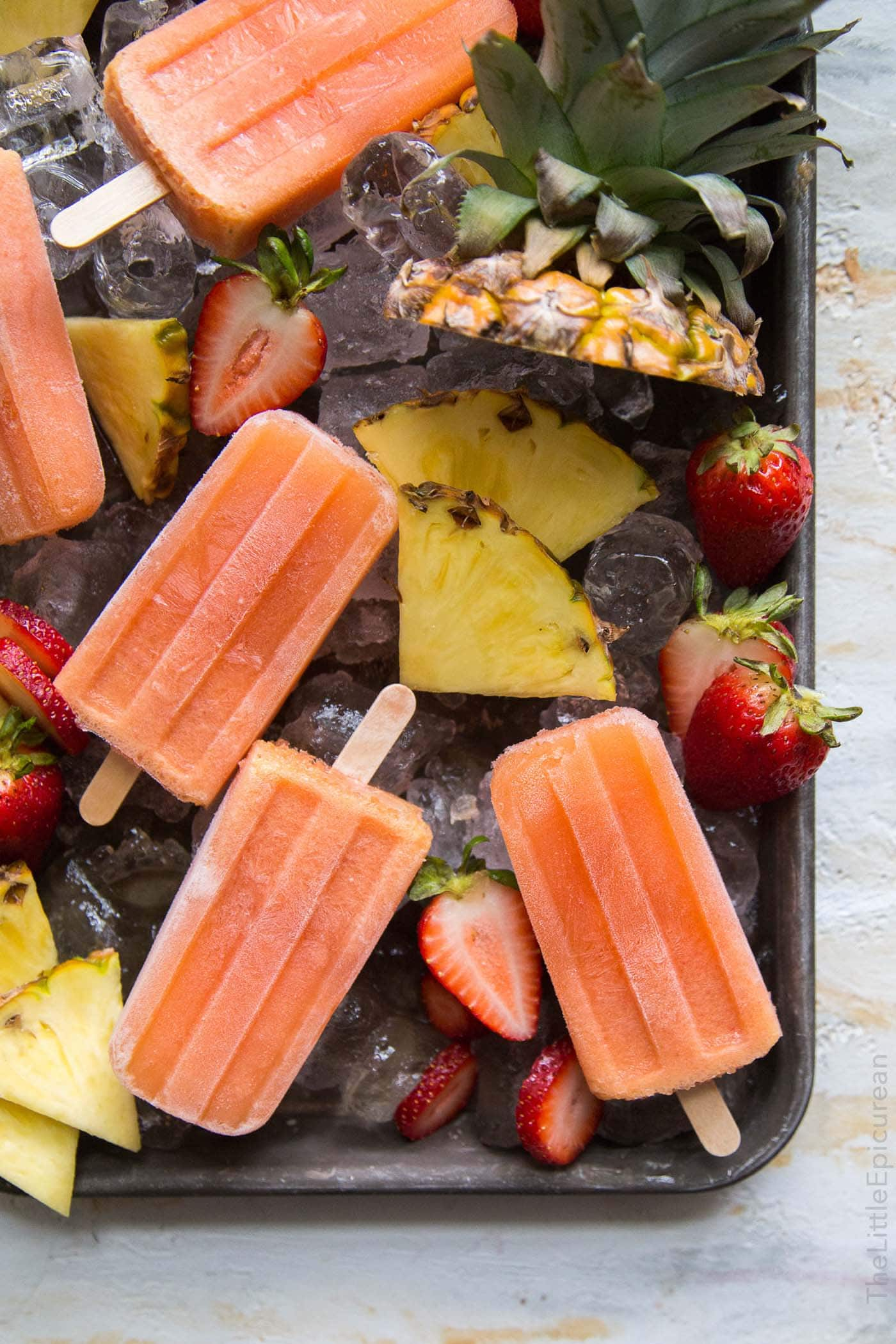 Passion Fruit Rose Popsicles