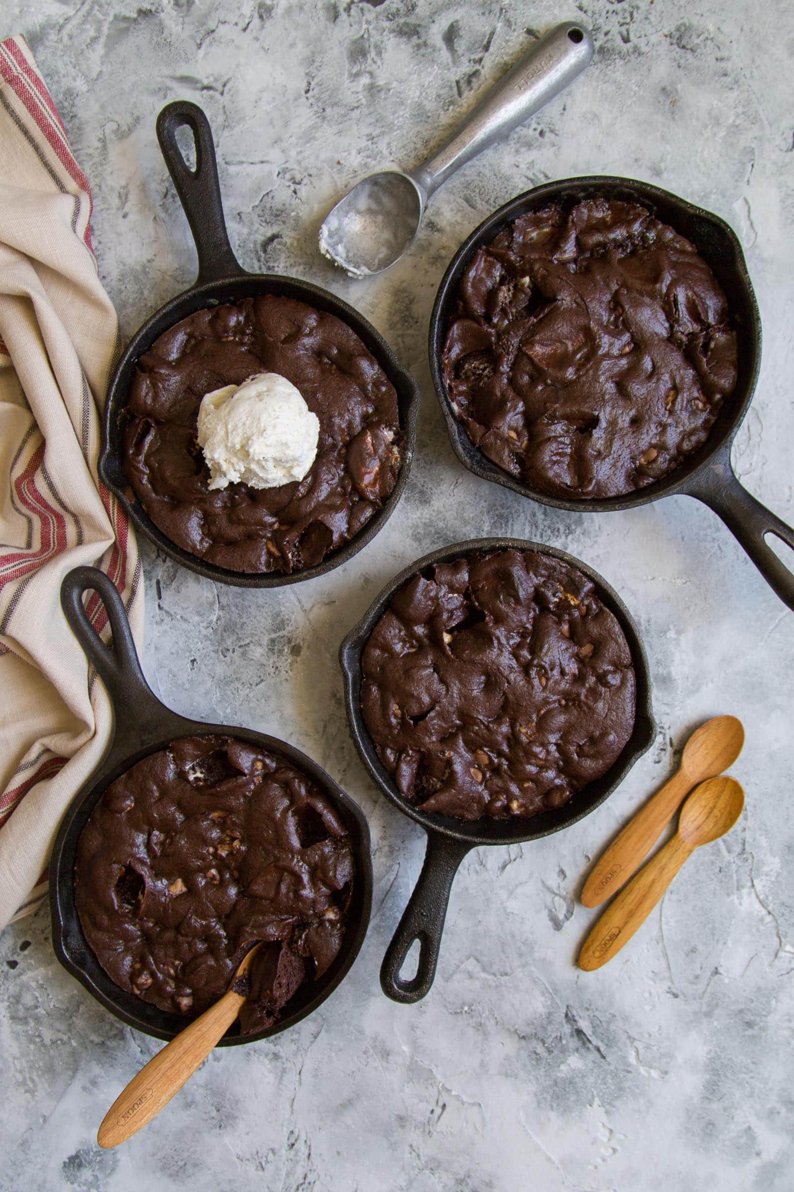 Skillet Rocky Road Brownies