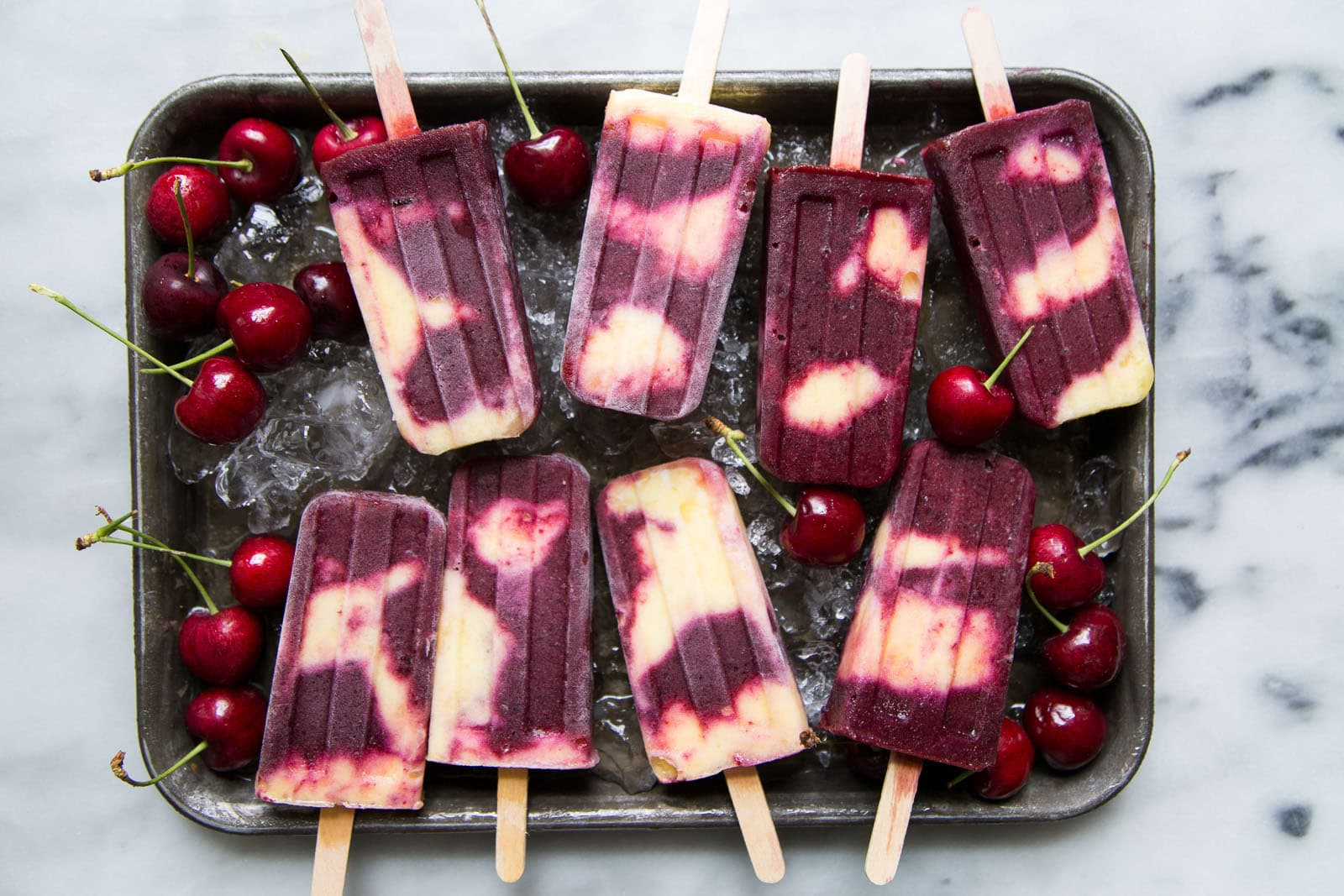 Cherry Pineapple Popsicles