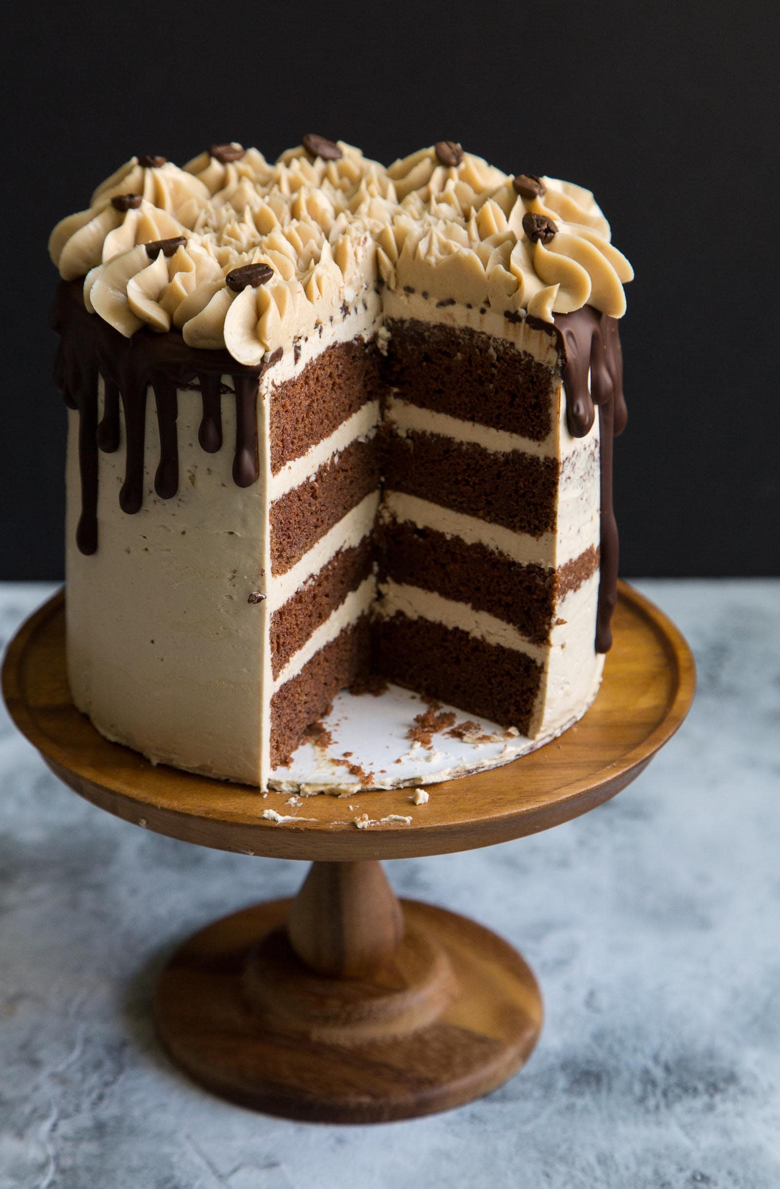 espresso chocolate cake with swiss buttercream the little epicurean