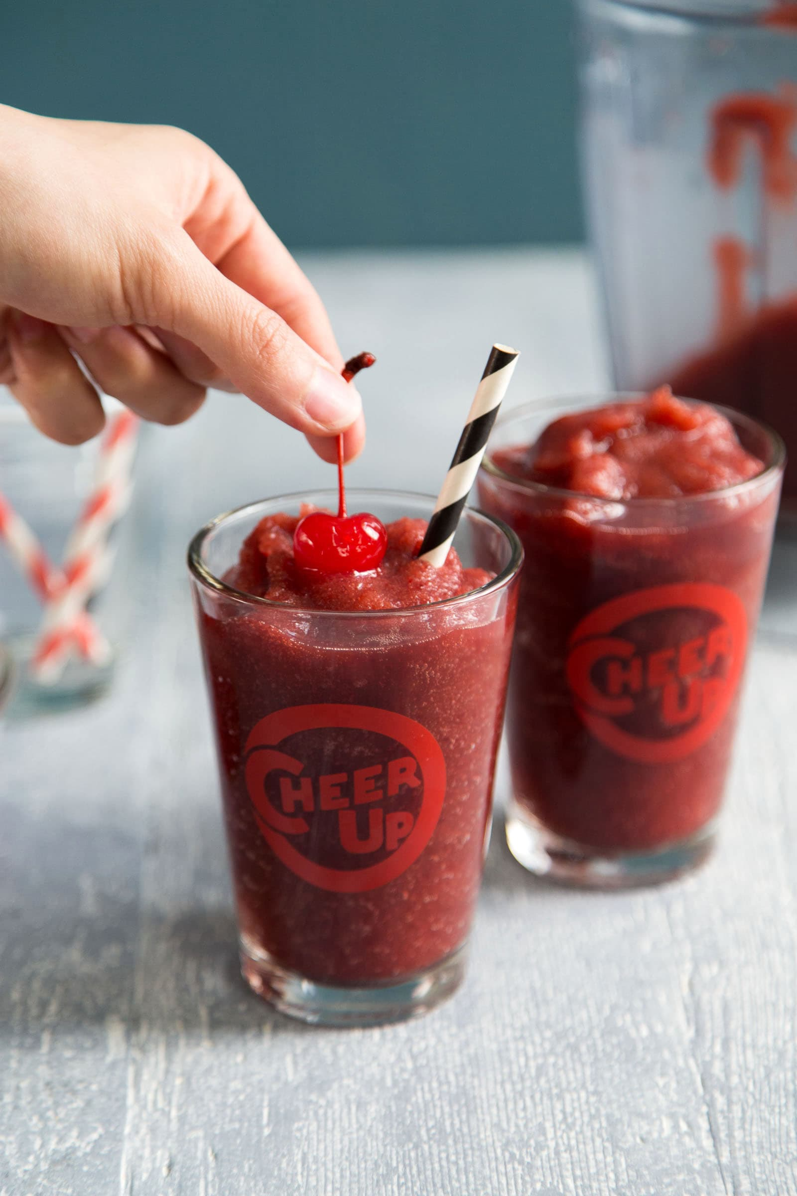 Cherry Jack and Coke Slushie
