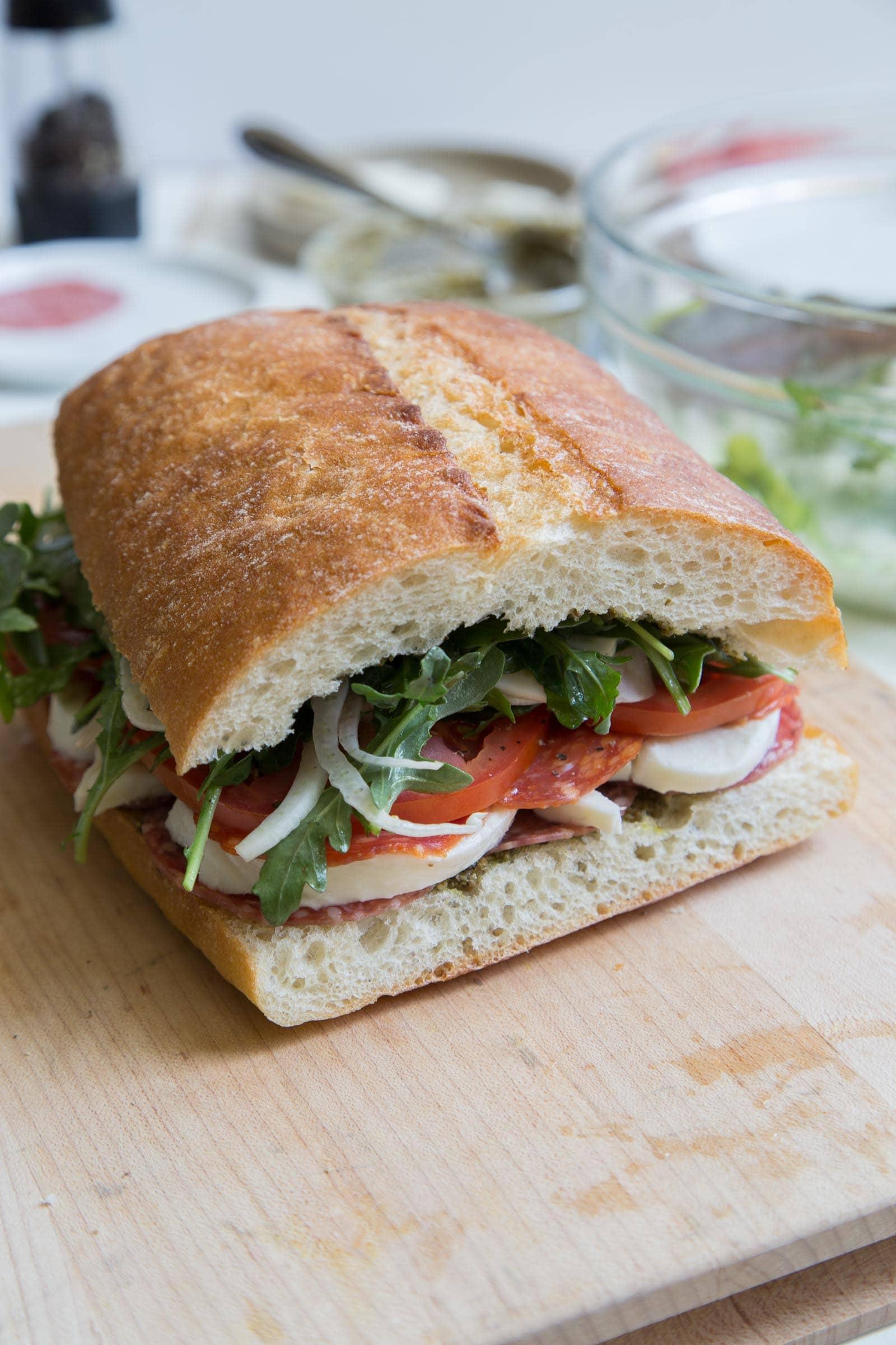 Salumi Mozzarella Sandwich