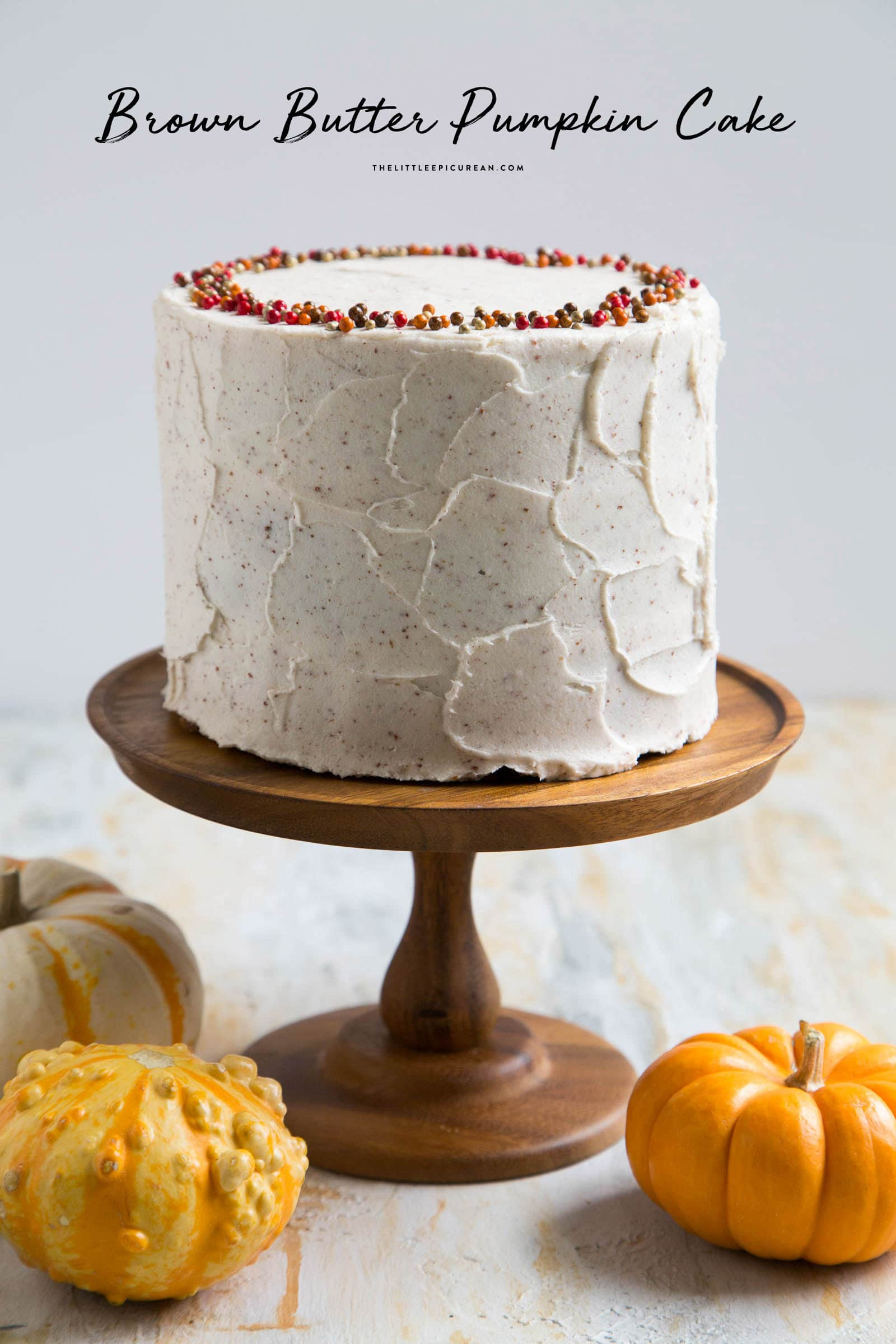 Brown Butter Pumpkin Cake- The Little Epicurean
