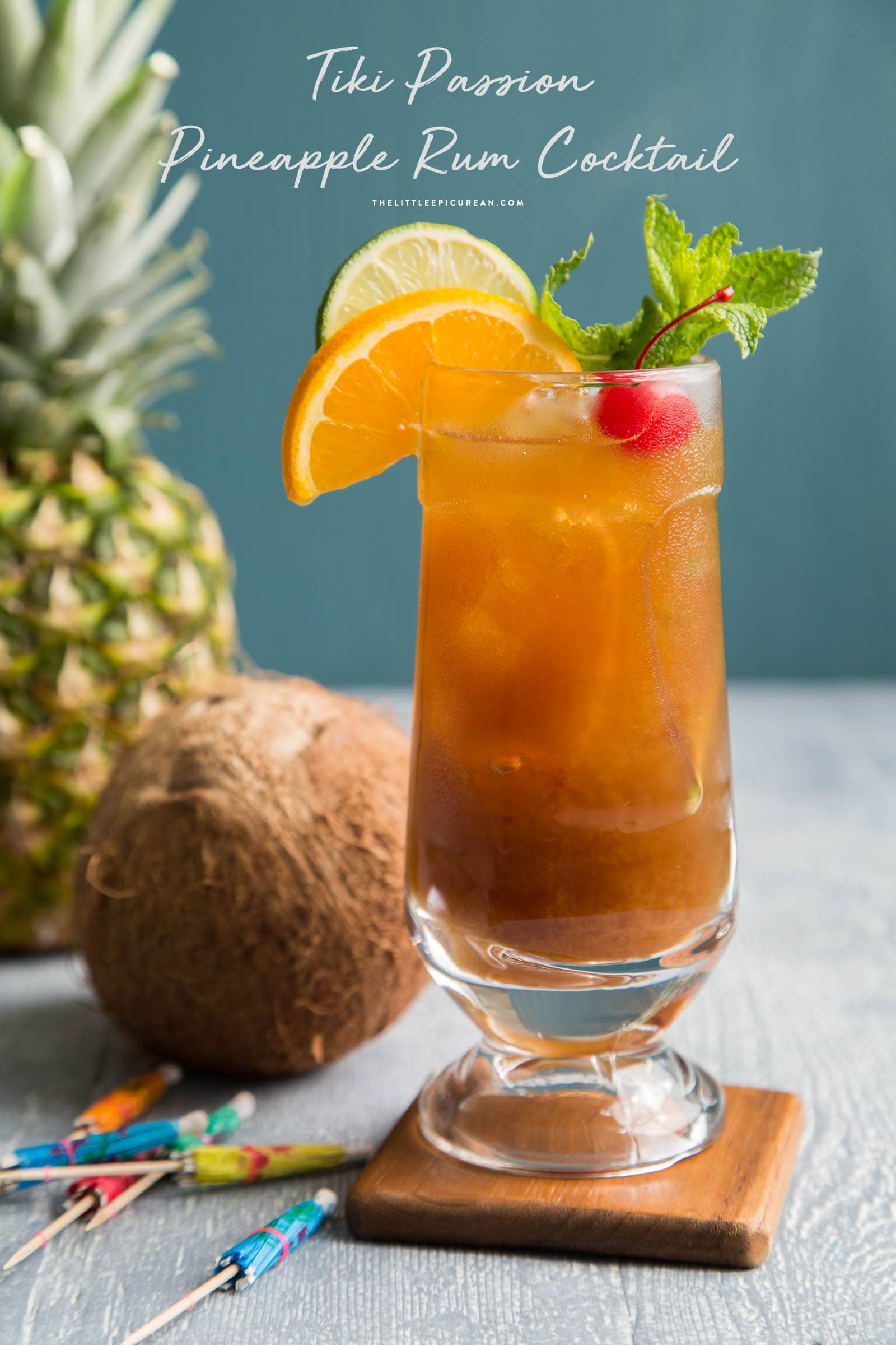Tiki Passion Pineapple Rum Cocktail
