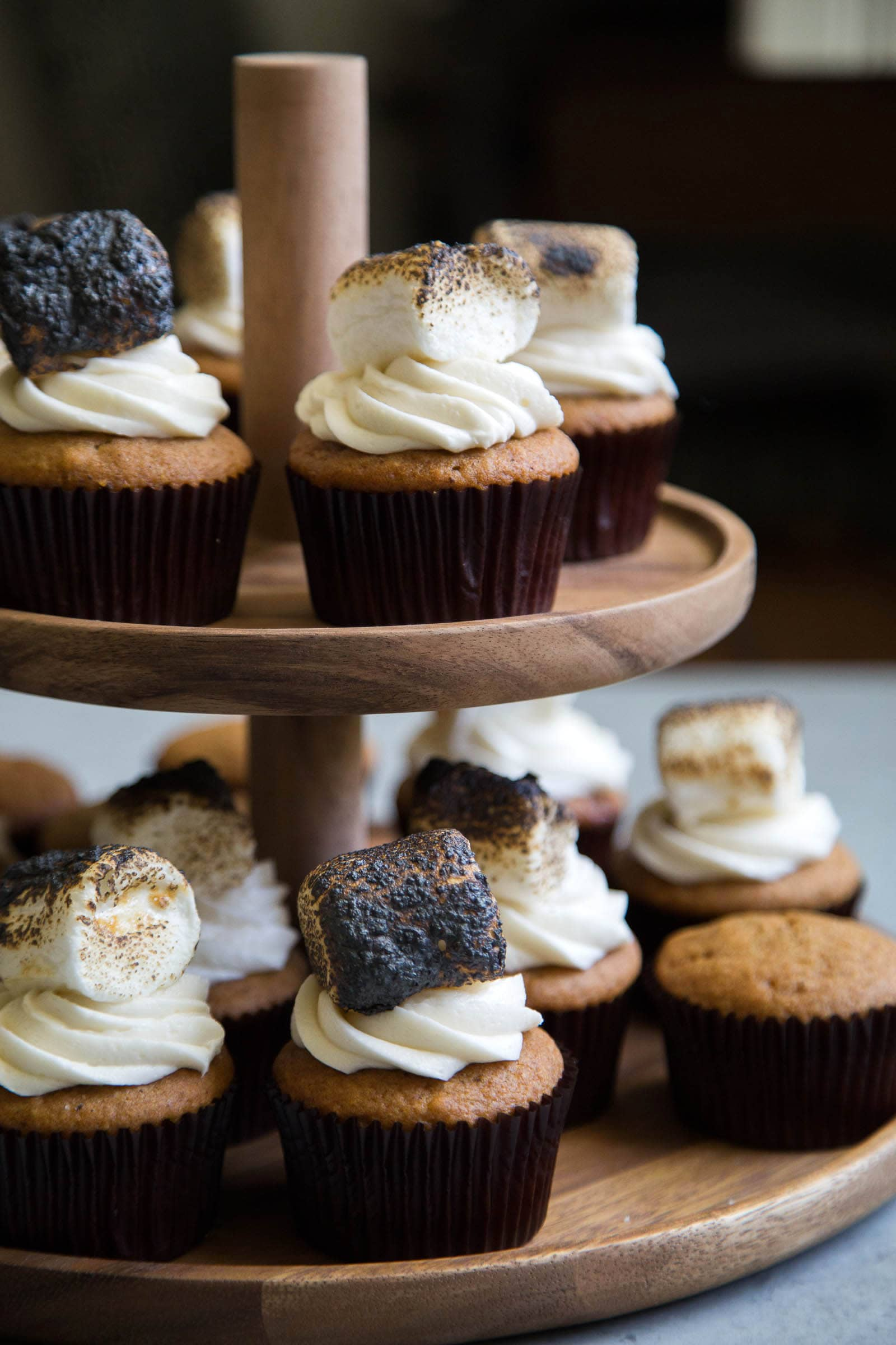 Butternut Squash Cupcakes with Toasted Marshmallows