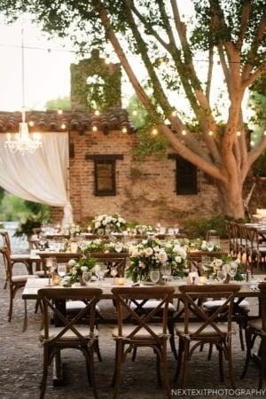 Hummingbird Nest Ranch Wedding Reception