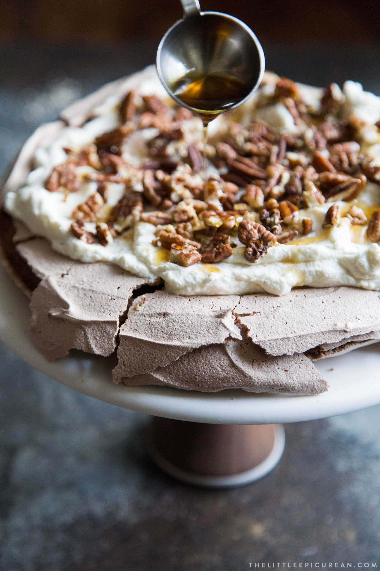 Chocolate Pavlova with Maple Whipped Cream and Toasted ...