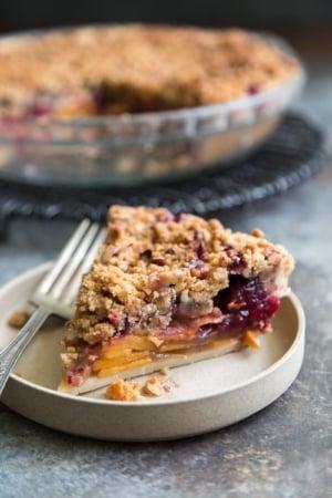 Persimmon Cranberry Pie